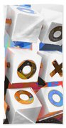 Noughts And Crosses Beach Towel