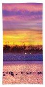 November Lagerman Reservoir Sunrise  Beach Towel by James BO  Insogna