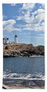 Nubble Light II Beach Towel