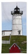 Nubble Lighthouse- Canvas Beach Towel