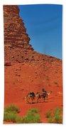 Nubian Camel Rider Beach Towel by Tony Beck
