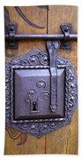 Nuremberg Castle Door Lock Beach Sheet
