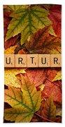 Nurture-autumn Beach Towel