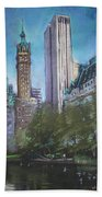 Nyc Central Park 2 Beach Towel by Ylli Haruni