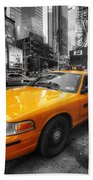 Nyc Yellow Cab Beach Towel