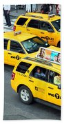 Nyc Yellow Cabs Beach Towel
