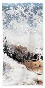 Oahu North Shore Splash Beach Towel