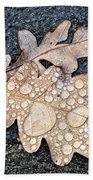 Oak Leaves Beach Towel