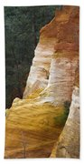 Ochre Quarry Of Roussillon, Provence Beach Towel