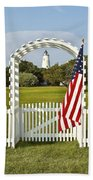 Ocracoke Lighthouse July 4th Beach Towel by Bill Swindaman