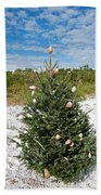 Oh Christmas Tree Florida Style Beach Towel