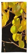 Oh Those Golden Leaves Beach Towel