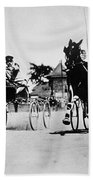 Ohio: Horse Race, 1904 Beach Towel