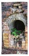 Old Antique Brick Kiln Fire Box Beach Sheet