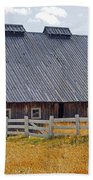 Old Barn And Fence Beach Towel