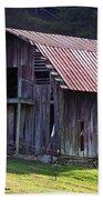 Old Barn In Etowah Beach Towel