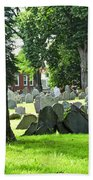 Old Cemetery In Boston Beach Towel