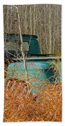 Old Chevy In The Field Beach Towel