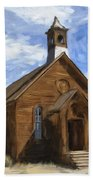 Old Church At Bodie Beach Towel