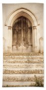 Old Church Door Beach Towel
