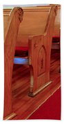 Old Church Pews Beach Towel by LeeAnn McLaneGoetz McLaneGoetzStudioLLCcom