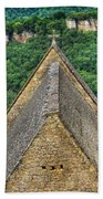 Old Church View Dordogne France Beach Towel