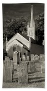 Old Church Yard Beach Towel
