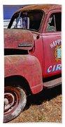 Old Circus Truck Beach Sheet