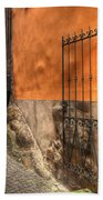 Old Colorful Rustic Alley Beach Towel