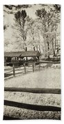 Old Country Saw-mill - Toned Beach Towel
