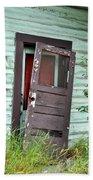 Old Door On Rustic Alaska Cabin Beach Towel