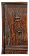 Old Door Study Provence France Beach Towel