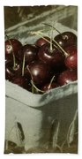 Old Fashioned Cherries Beach Towel