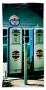 Old Fashioned Gas Station Beach Towel