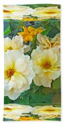 Old Fashioned Yellow Rose - Mirror Box Beach Towel
