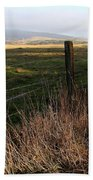 Old Fence And Landscape At Point Reyes California . 7d9968 Beach Towel
