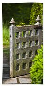Old Garden Entrance Beach Towel