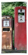 Old Gas Station Pumps Beach Towel