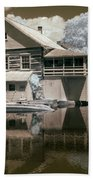 Old Grist Mill In Infrared Beach Towel