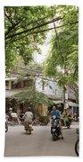 Old Hanoi Life Beach Towel