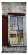 Old House Red Shutter 1 Beach Towel