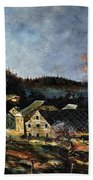 Old Houses In Mogimont Beach Towel