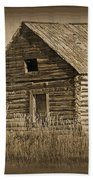 Old Hunting Cabin - Wyoming Beach Towel