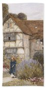Old Manor House Beach Towel by Helen Allingham
