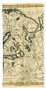 Old Map Of Northern Europe Beach Towel