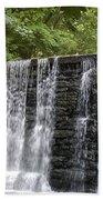Old Mill Waterfall Beach Towel
