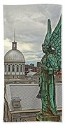Old Montreal Angel Beach Towel