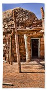 Old Navajo Stone House Beach Towel