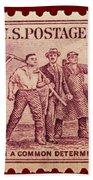 Old Nra Postage Stamp Beach Towel