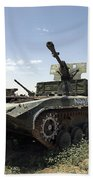 Old Russian Bmp-1 Infantry Fighting Beach Sheet